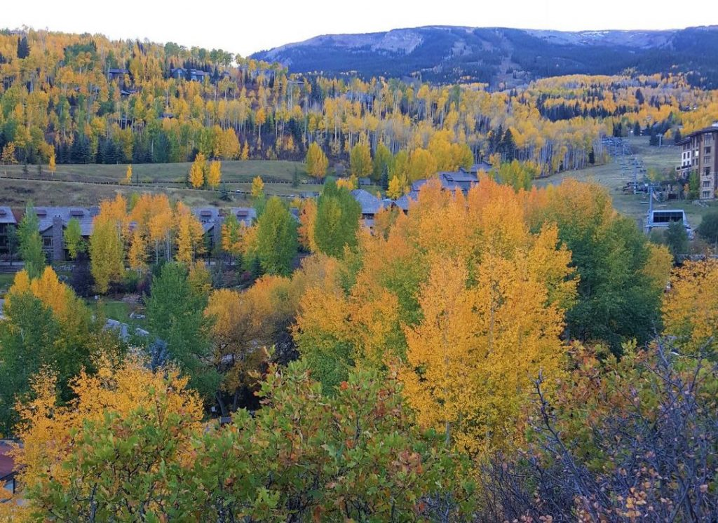 View of Snowmass, CO in Fall