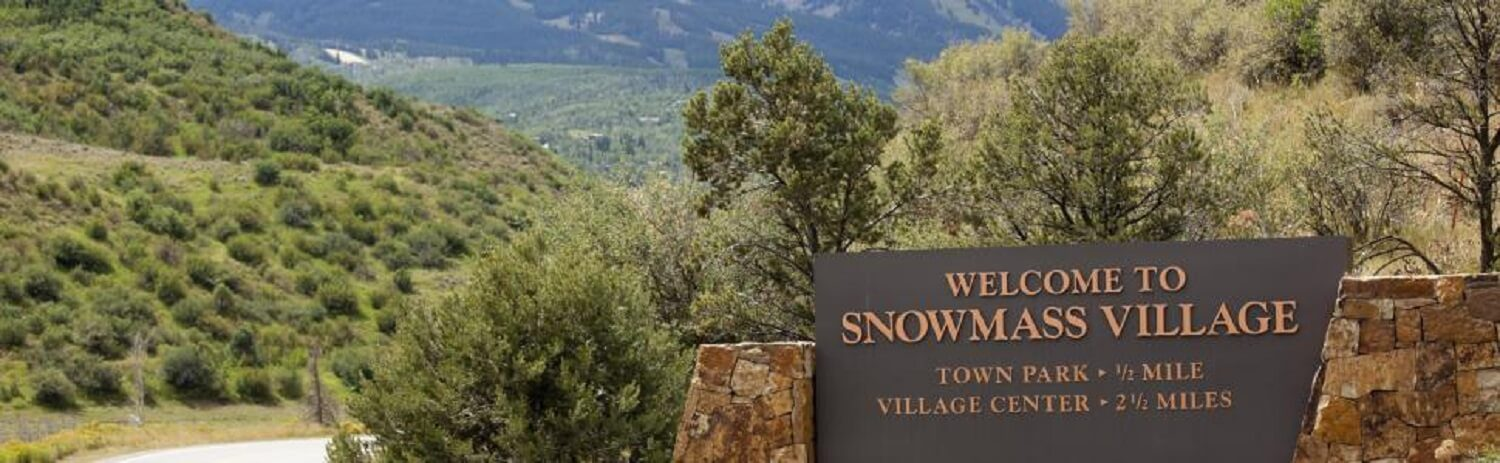 Welcome Sign for Snowmass