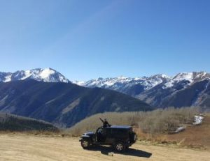 Off Roading on the Back of Aspen Mountain - side image version