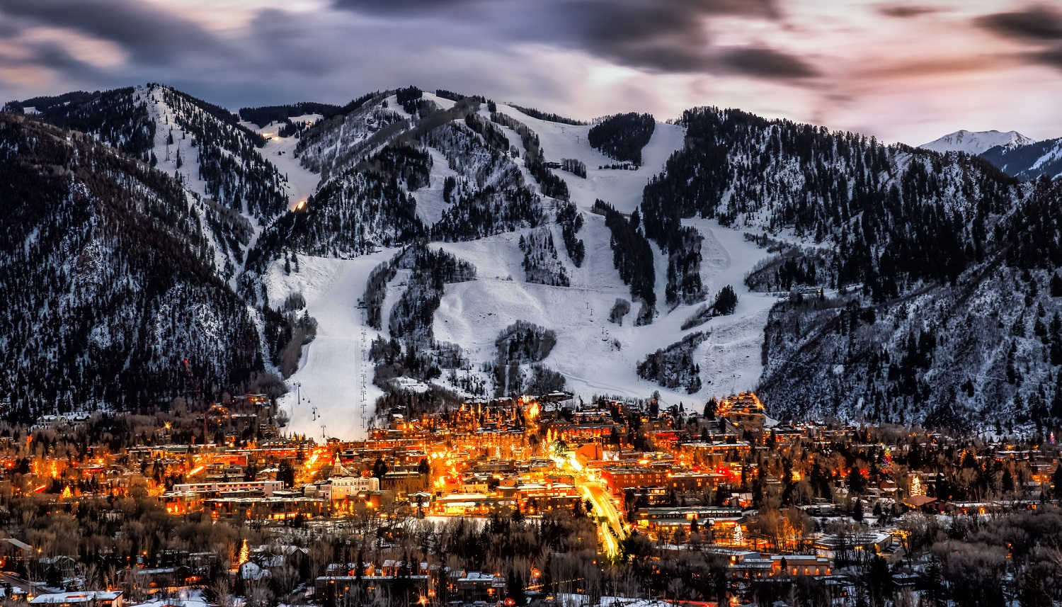 Looking at Aspen Colorado during the winter season