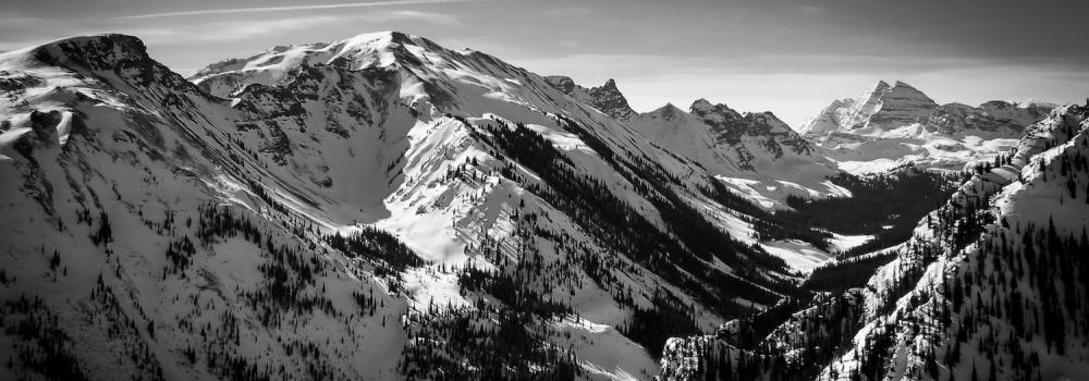 Snowmass View in B&W