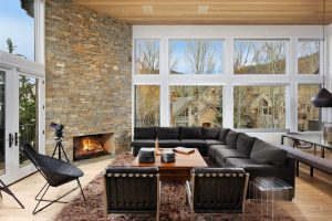 Living Room of an aspen signature properties rental