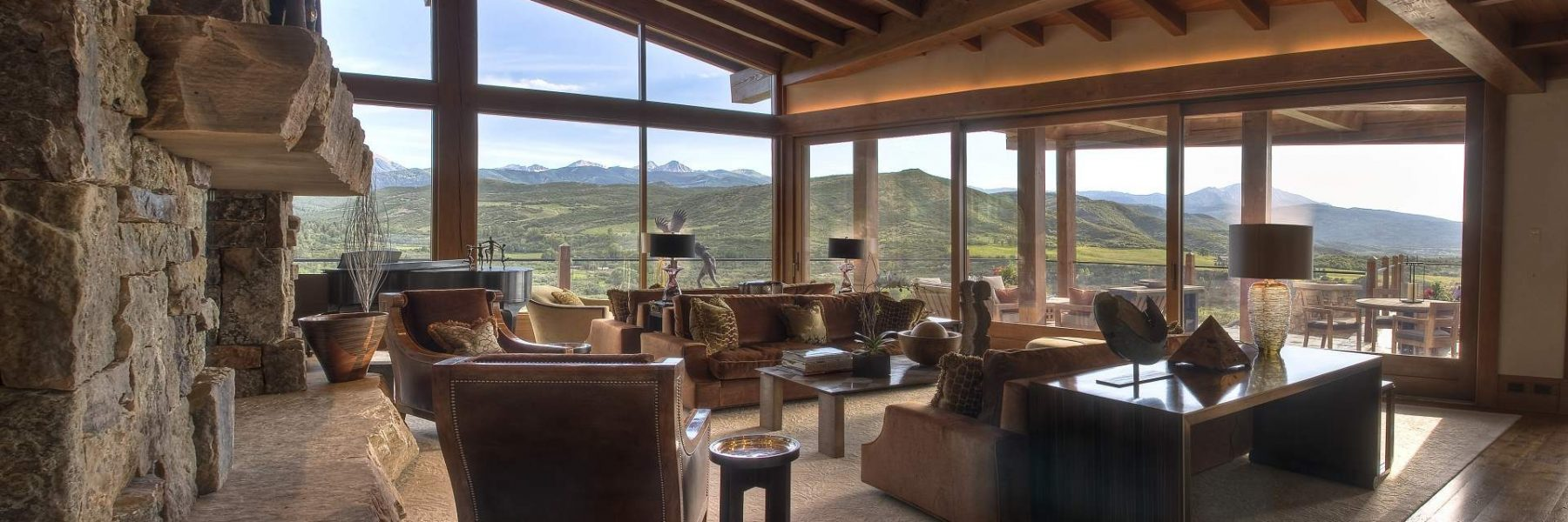Unsurpassed Beauty in Snowmass Living Room