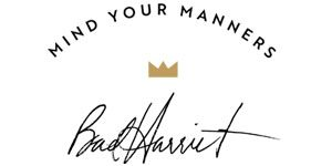 Mind Your Manners Bad Harriet logo