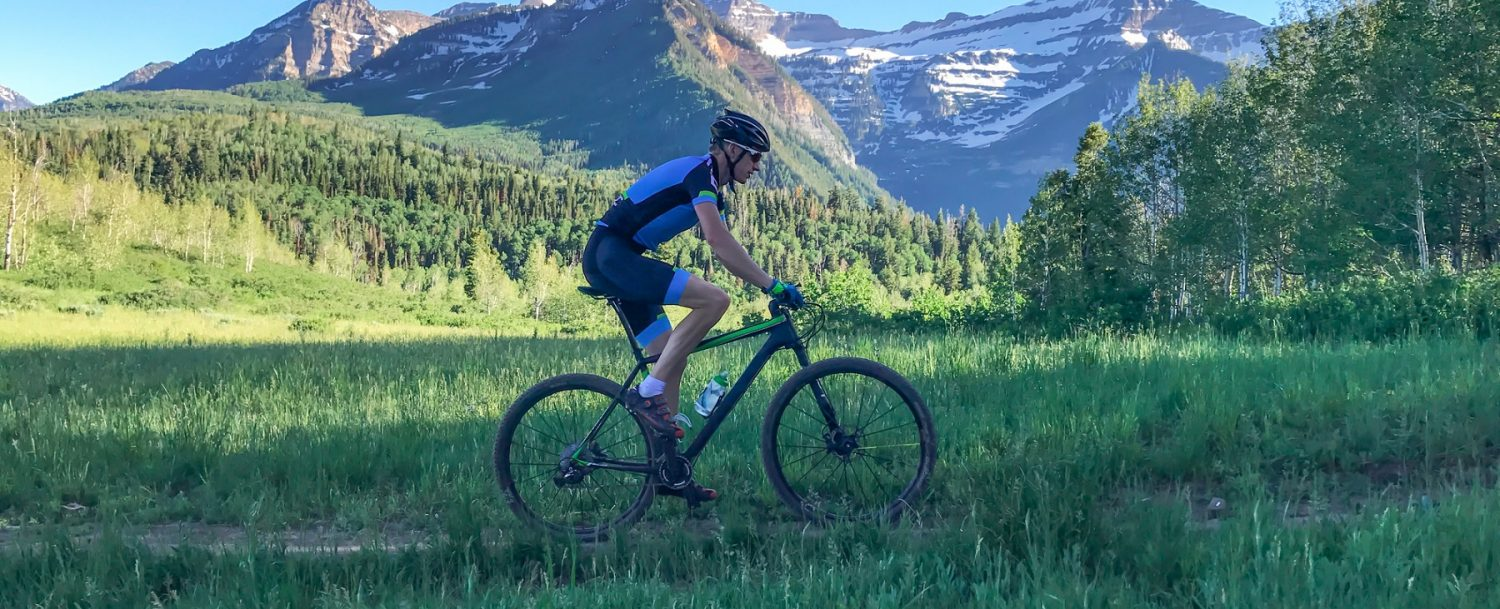 man enjoying Aspen Biking Trails