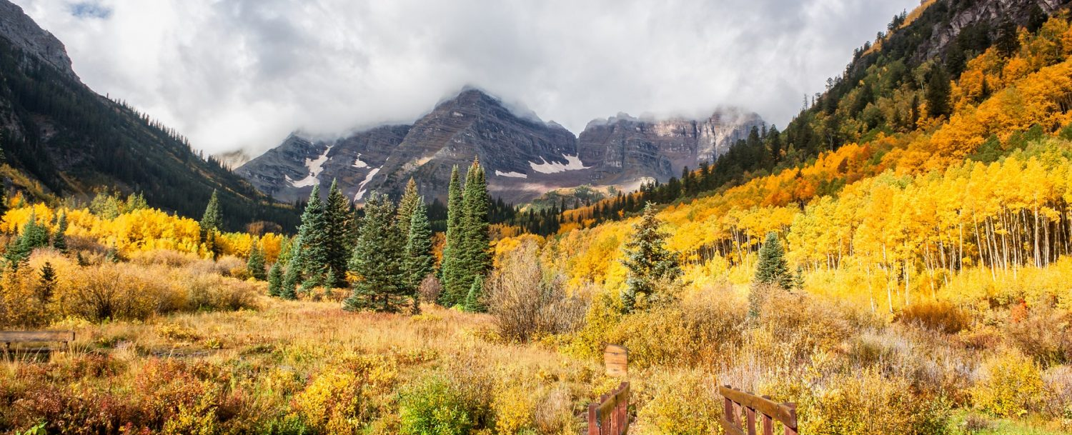 Trail To Maroon Bells in Aspen in September