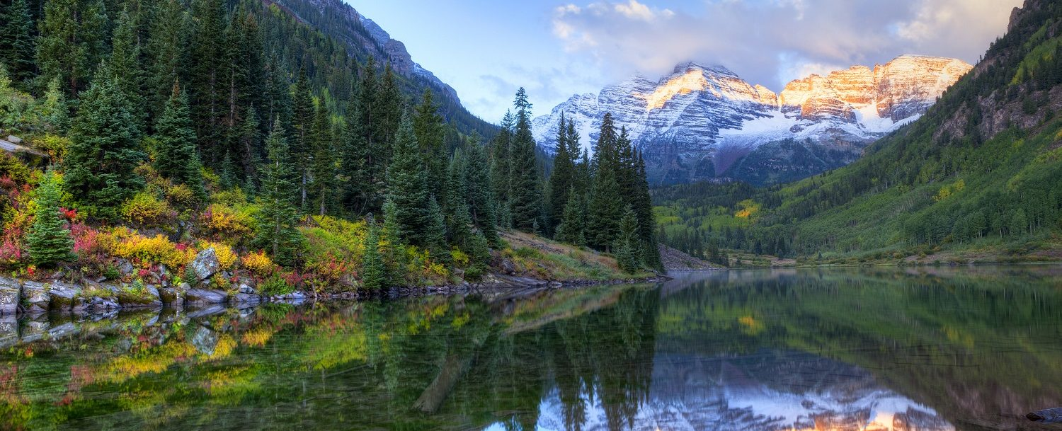 Maroon Bells in the fall in aspen-- enjoying aspen fall events