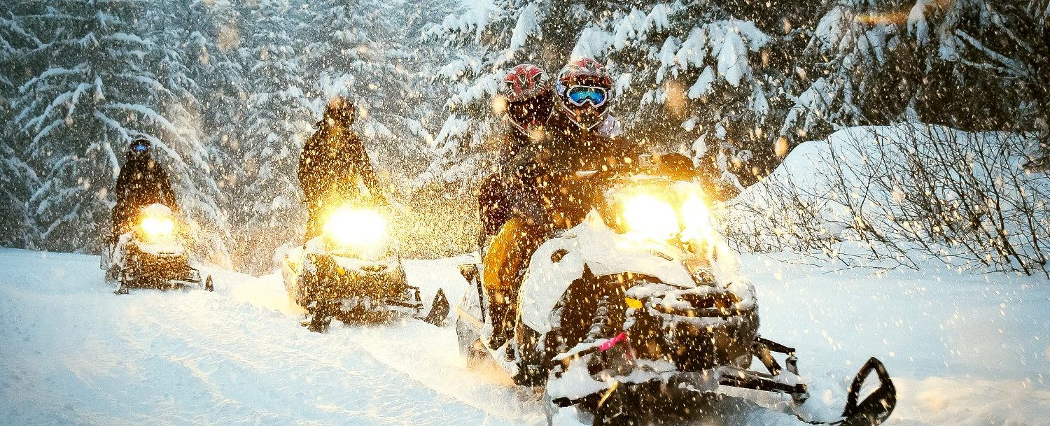 Snowmobiling in Aspen, Colorado
