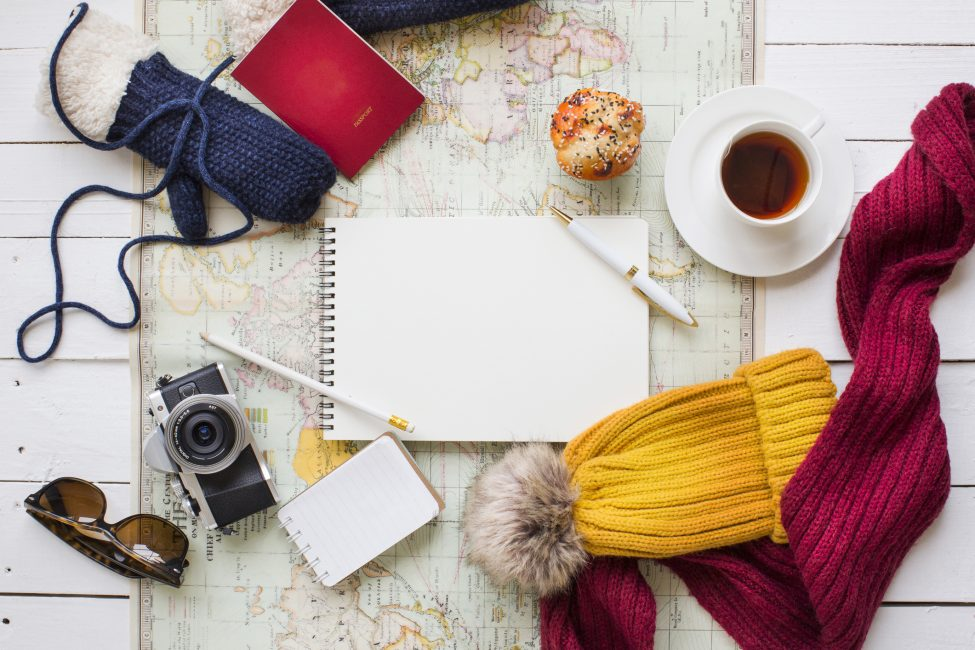 map, coffee, beanie, camera | Moving to Aspen, CO